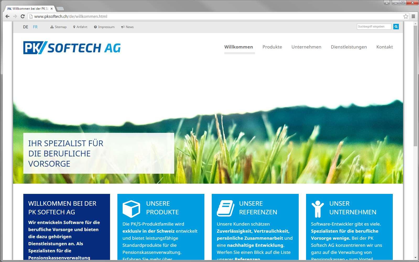 Aktuelle Referenzen: PK Softech AG